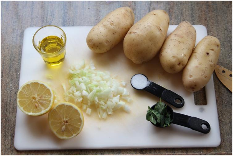 מצרכים לסלט תפוחי אדמה