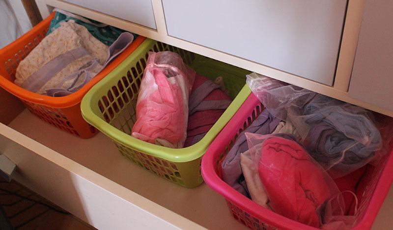סלסילות לארגון הבגדים במגירה